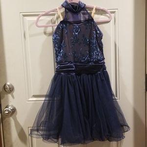 Navy blue lyrical or ballet costume